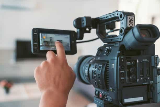Cámara profesional producción audiovisual