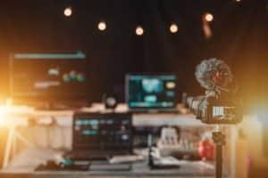 equipo profesional para la producción audiovisual